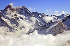 Jungfraujoch, part of Swiss Alps Royalty Free Stock Images
