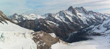Jungfraujoch, Part of Swiss Alps Alpine Snow Mountain Royalty Free Stock Photos