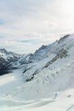 Jungfraujoch, Part of Swiss Alps Alpine Stock Photo