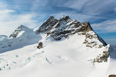 Jungfraujoch, Part of Swiss Alps Alpine Stock Photography