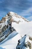 Jungfraujoch, parte della montagna alpina della neve delle alpi svizzere Fotografie Stock Libere da Diritti