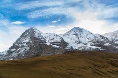 Jungfraujoch, parte delle alpi svizzere alpine Immagini Stock Libere da Diritti