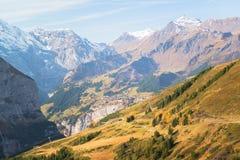 Jungfraujoch, parte delle alpi svizzere alpine Immagini Stock