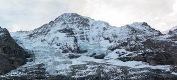 Jungfraujoch, parte delle alpi svizzere alpine Immagine Stock Libera da Diritti