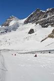 Jungfraujoch Sledging Stock Photography