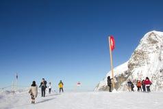 Jungfraujoch, Suisse - 27 octobre 2016 : Dessus de l'Europe Jungfraujoch, Suisse Images libres de droits