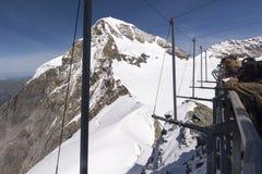 Jungfraujoch weather station, Switzerland Royalty Free Stock Photo