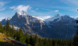 Jungfraw massif, Alpes suisses Photos libres de droits
