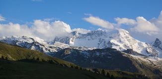 Jungfraw massive, Swiss Alps Royalty Free Stock Photos