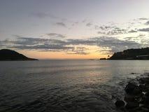 Jungfruöarna solnedgång Arkivfoto