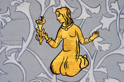 Jungfru det jungfruliga zodiaktecknet royaltyfria foton