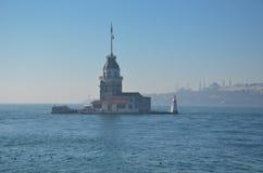 Jungfru- torn för ` s i Istanbul /Turkey, 2016 royaltyfria bilder