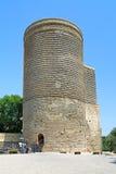 Jungfru- torn i Baku, Azerbajdzjan Royaltyfria Bilder
