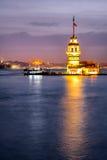 Jungfru Torn-Istanbul Turkiet Royaltyfri Bild