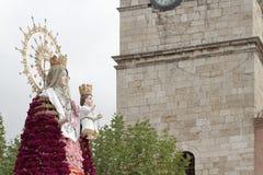 Jungfrulig del Rosario i Torrejon de Ardoz Fotografering för Bildbyråer