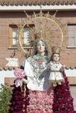 Jungfrulig del Rosario i Torrejon de Ardoz Royaltyfri Foto