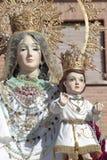 Jungfrulig del Rosario i Torrejon de Ardoz Arkivfoto