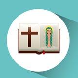 jungfrulig mary guadalupe välsignad bibeldesign vektor illustrationer