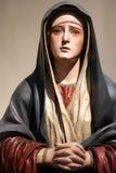 Jungfrulig Mary staty Arkivfoto