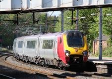 Jungfrulig resandedmu som ankommer på den Lancaster stationen Royaltyfri Fotografi