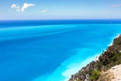 Jungfrulig strand Arkivfoto