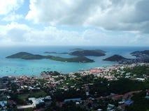 jungfruliga öar Arkivbild