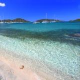 jungfruliga brittiska öar Arkivbild