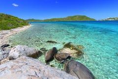 jungfruliga brittiska öar Arkivfoto