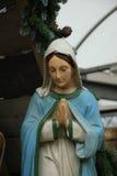 Jungfruliga Mary i julkrubba Royaltyfri Fotografi