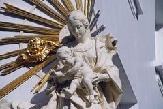 Jungfruliga Mary med barnet, Antwerp Fotografering för Bildbyråer