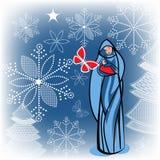 Jungfruliga Mary med behandla som ett barn Jesus Arkivbilder