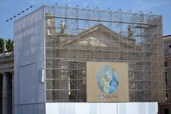 Jungfruliga Mary med Jesus totalt din Christ- Royaltyfri Fotografi