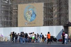 Jungfruliga Mary med totalt din Jesus Kristusâ Fotografering för Bildbyråer