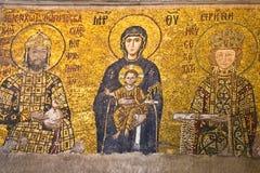 Jungfruliga Mary och barnet, mosaik Royaltyfri Fotografi
