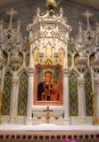 Jungfruliga Mary och Jesus Icon Arkivfoto