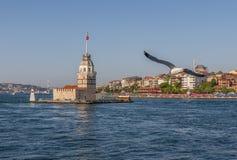 Jungfruns torn av Istanbul kalkon royaltyfri fotografi