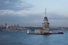 Jungfruns torn, Istanbul, Turkiet Royaltyfri Fotografi