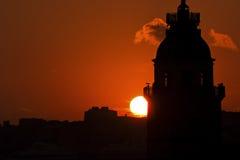 Jungfrus torn i Istanbul, Turkiet Arkivfoto