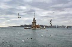 Jungfrutorn i Istanbul Fotografering för Bildbyråer