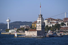 Jungfrutorn i Istanbul, Turkiet Royaltyfria Foton