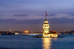 Jungfrutorn Istanbul Turkiet Arkivbild