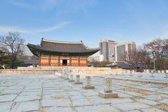 Junghwajeon, Haupthalle von Deoksugung Lizenzfreies Stockfoto