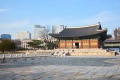 Junghwajeon, Haupthalle von Deoksugung Lizenzfreie Stockfotos