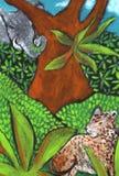 Jungle. Wild animals in the jungle Stock Photo