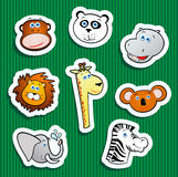 Jungle animal stickers Stock Image