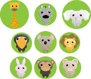 Jungle animals Royalty Free Stock Photos