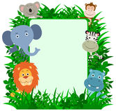 Jungle Animals Frame Stock Images