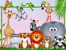 Jungle animals Royalty Free Stock Photo