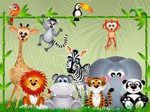 Jungle animals Stock Photography