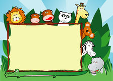 Jungle background stock illustration